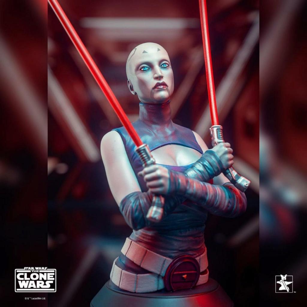 Asajj Ventress Mini Bust - Star Wars Clone Wars - Gentle  Asajj_21