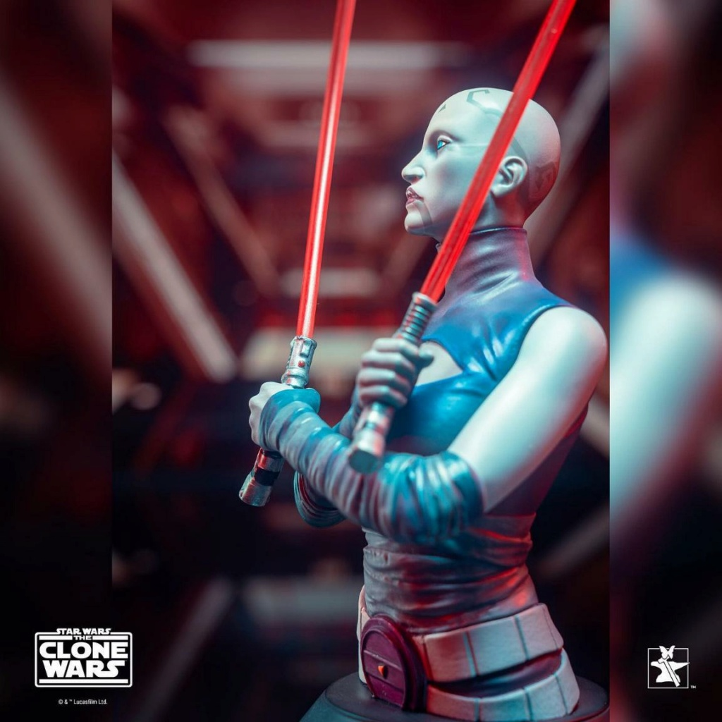 Asajj Ventress Mini Bust - Star Wars Clone Wars - Gentle  Asajj_22