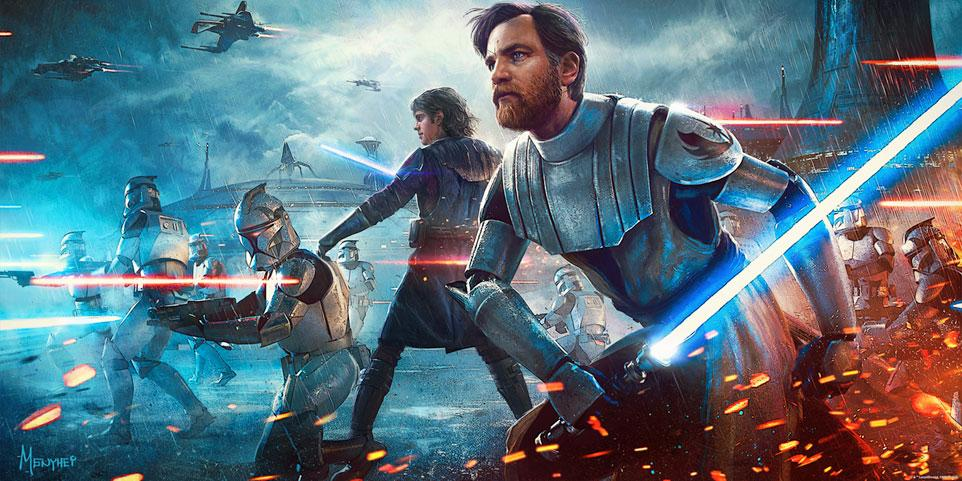Battle of Kamino - Artwork Star Wars - ACME Archives Battle18