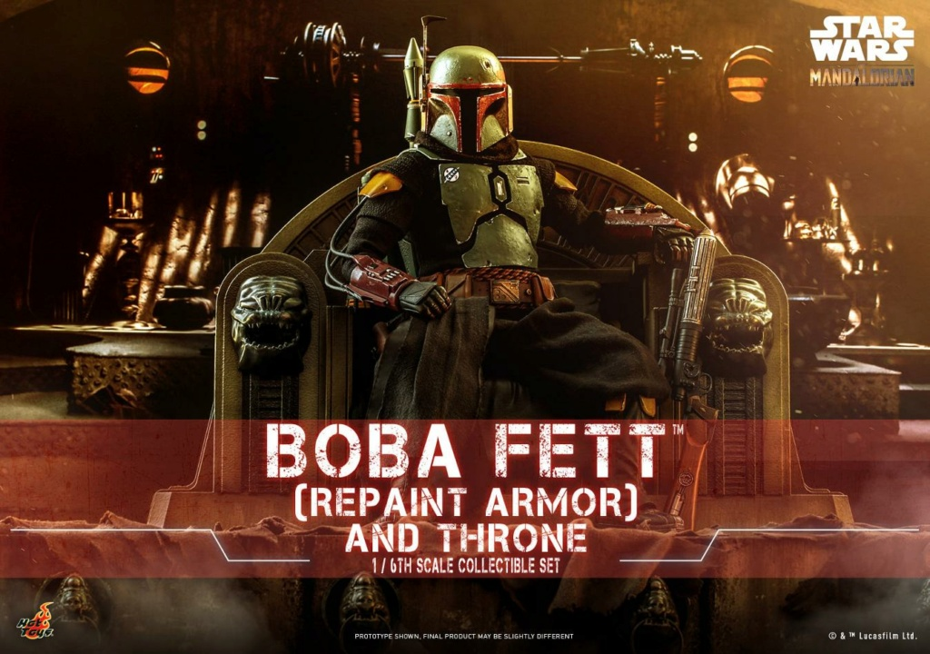 Boba Fett (Repaint Armor) & Throne Collectible Set Hot Toys Boba_f41
