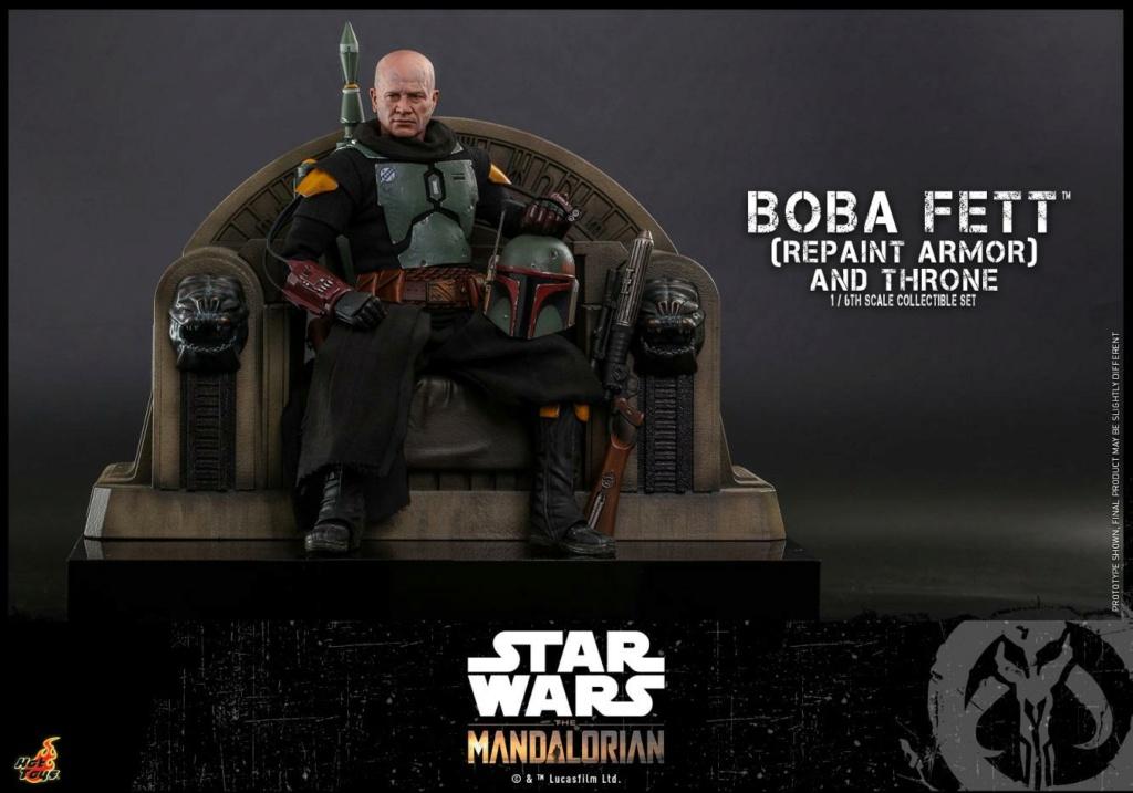 Boba Fett (Repaint Armor) & Throne Collectible Set Hot Toys Boba_f42