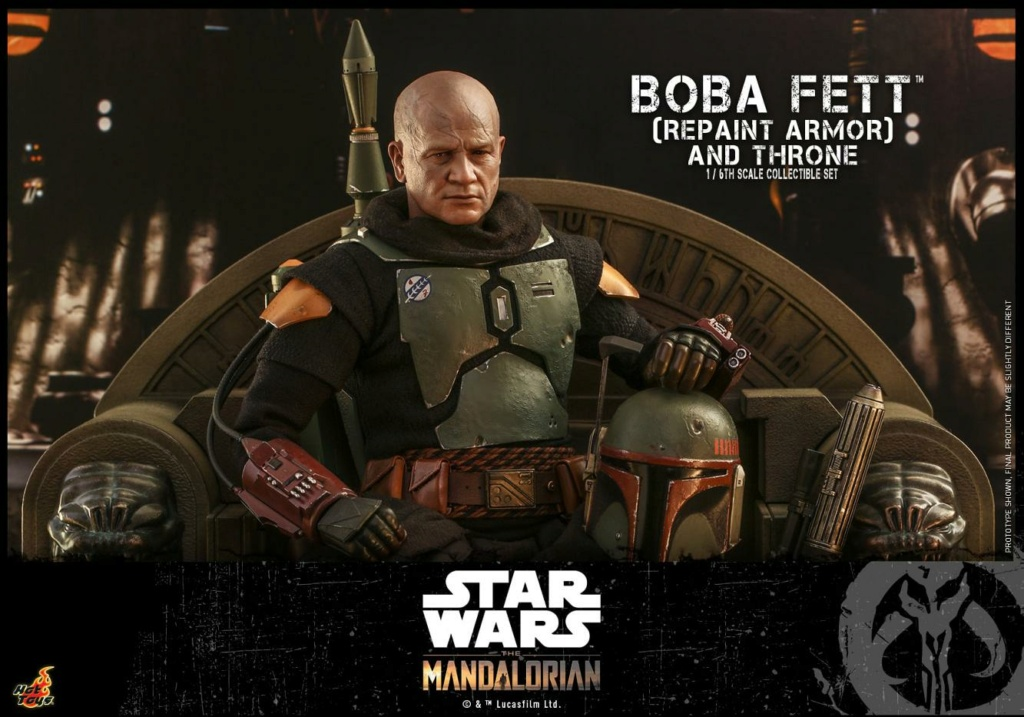 Boba Fett (Repaint Armor) & Throne Collectible Set Hot Toys Boba_f44