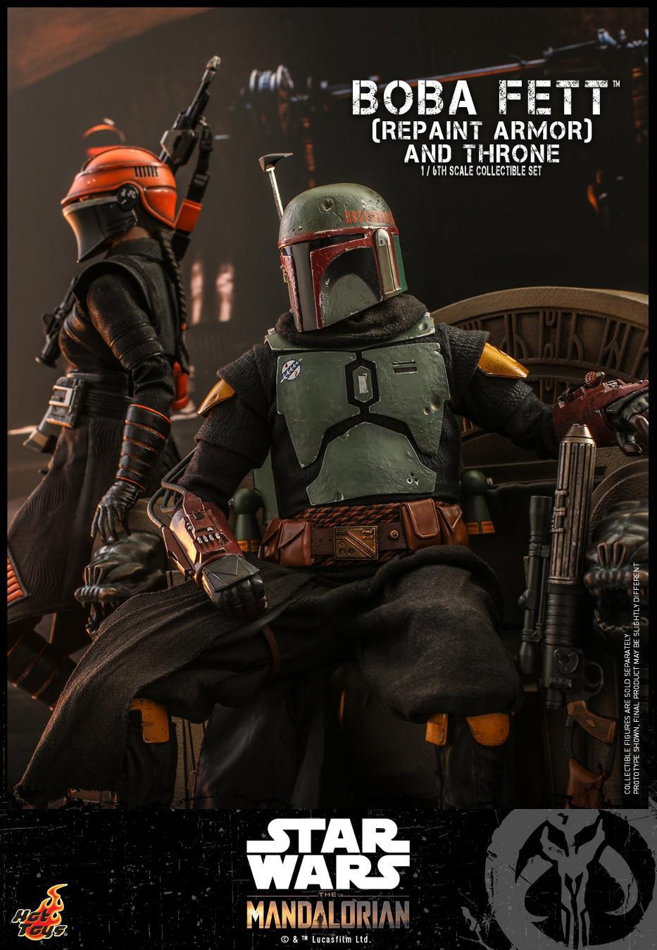 Boba Fett (Repaint Armor) & Throne Collectible Set Hot Toys Boba_f46