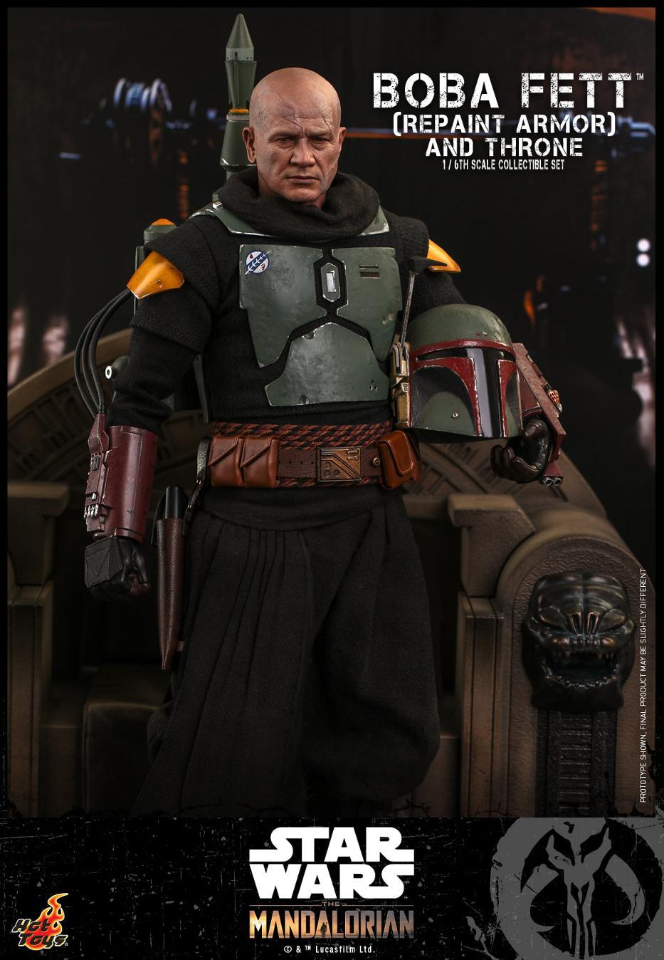 Boba Fett (Repaint Armor) & Throne Collectible Set Hot Toys Boba_f47