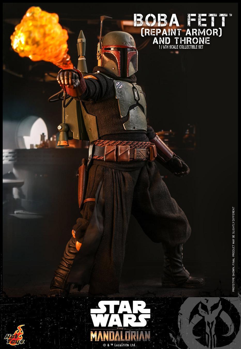 Boba Fett (Repaint Armor) & Throne Collectible Set Hot Toys Boba_f48