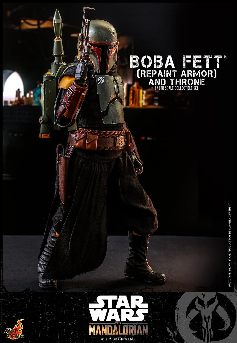 Boba Fett (Repaint Armor) & Throne Collectible Set Hot Toys Boba_f49