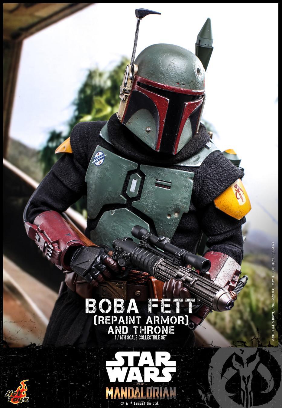 Boba Fett (Repaint Armor) & Throne Collectible Set Hot Toys Boba_f50