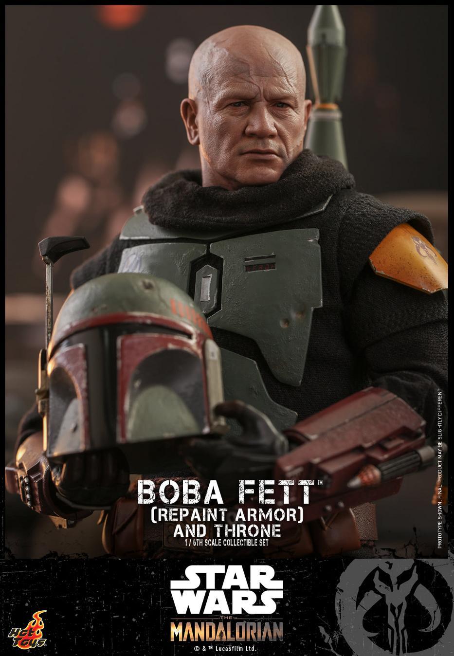 Boba Fett (Repaint Armor) & Throne Collectible Set Hot Toys Boba_f51
