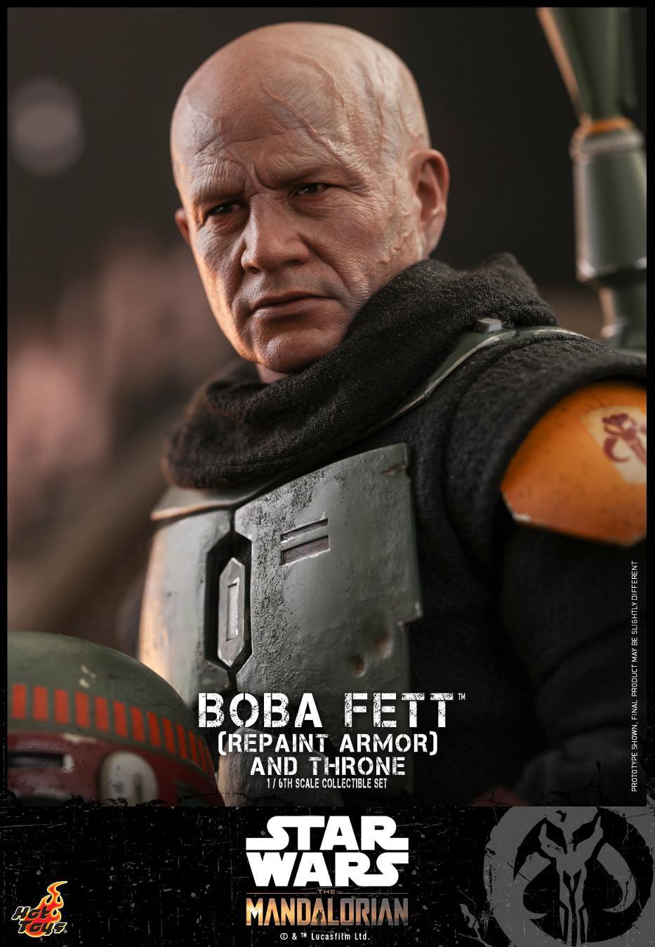 Boba Fett (Repaint Armor) & Throne Collectible Set Hot Toys Boba_f52