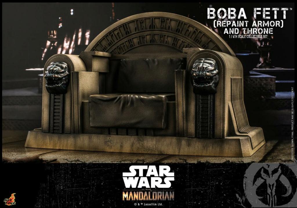 Boba Fett (Repaint Armor) & Throne Collectible Set Hot Toys Boba_f55
