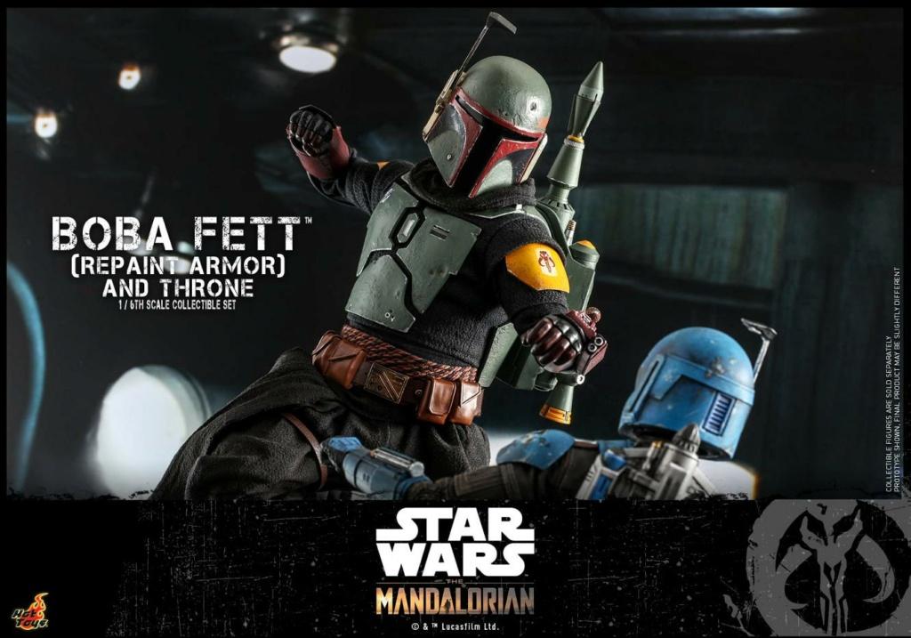 Boba Fett (Repaint Armor) & Throne Collectible Set Hot Toys Boba_f57