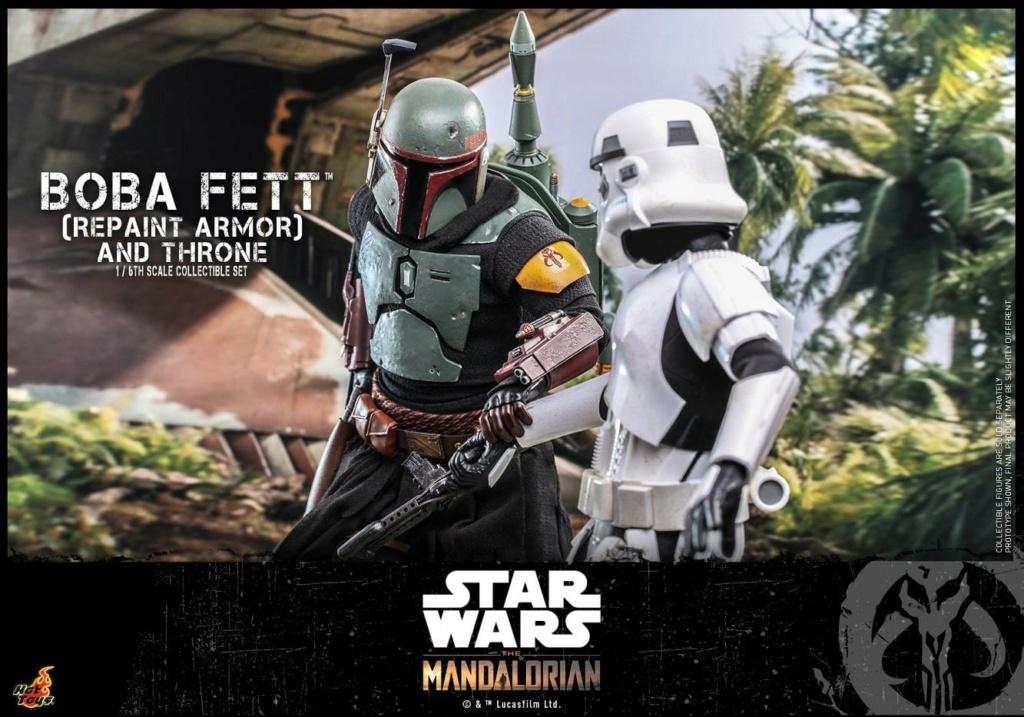 Boba Fett (Repaint Armor) & Throne Collectible Set Hot Toys Boba_f58