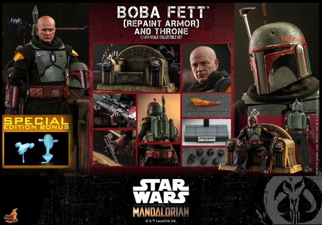 Boba Fett (Repaint Armor) & Throne Collectible Set Hot Toys Boba_f60