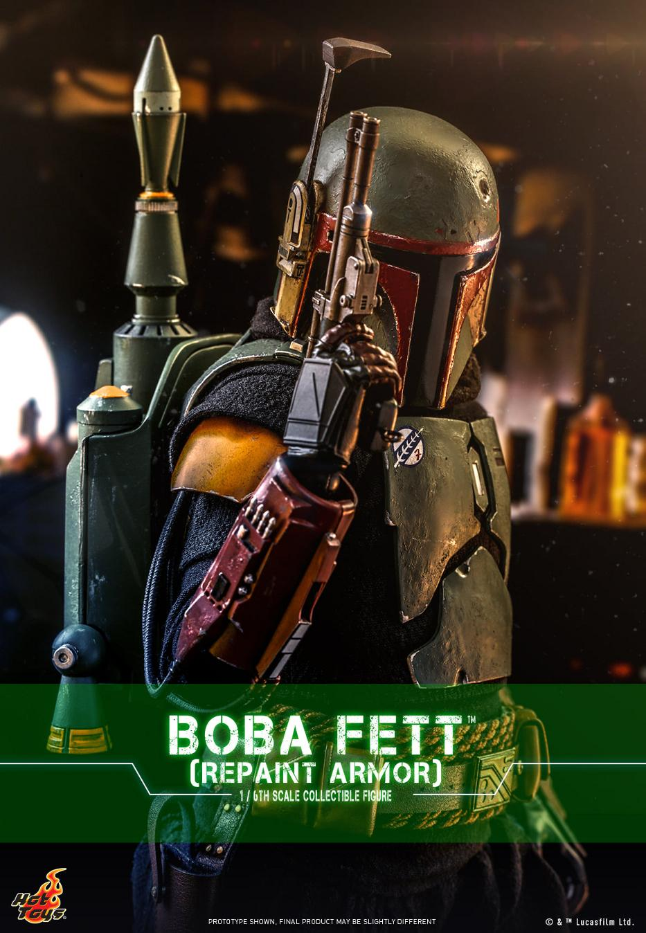 Boba Fett (Repaint Armor) Collectible Figure - Hot Toys Boba_f61