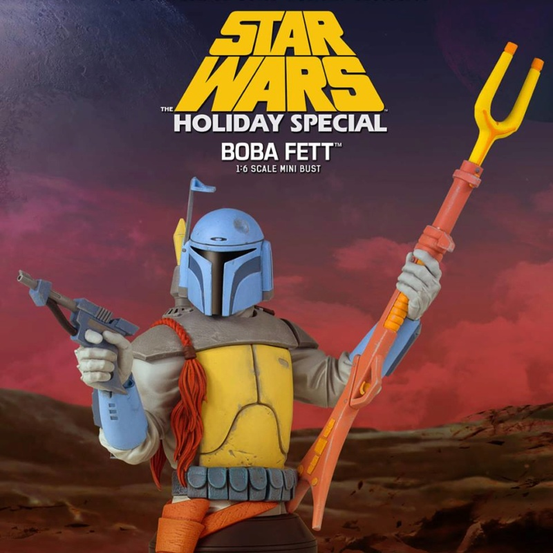 Gentle Giant - Boba Fett Holiday Special 2018 PGM Mini Bust Boba_h14