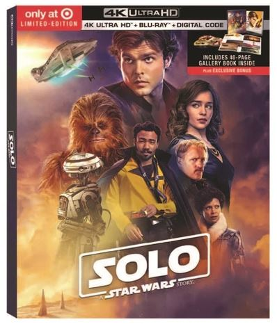 Solo - DVD Blu Ray Star Wars Solo A Star Wars Story  Br0110