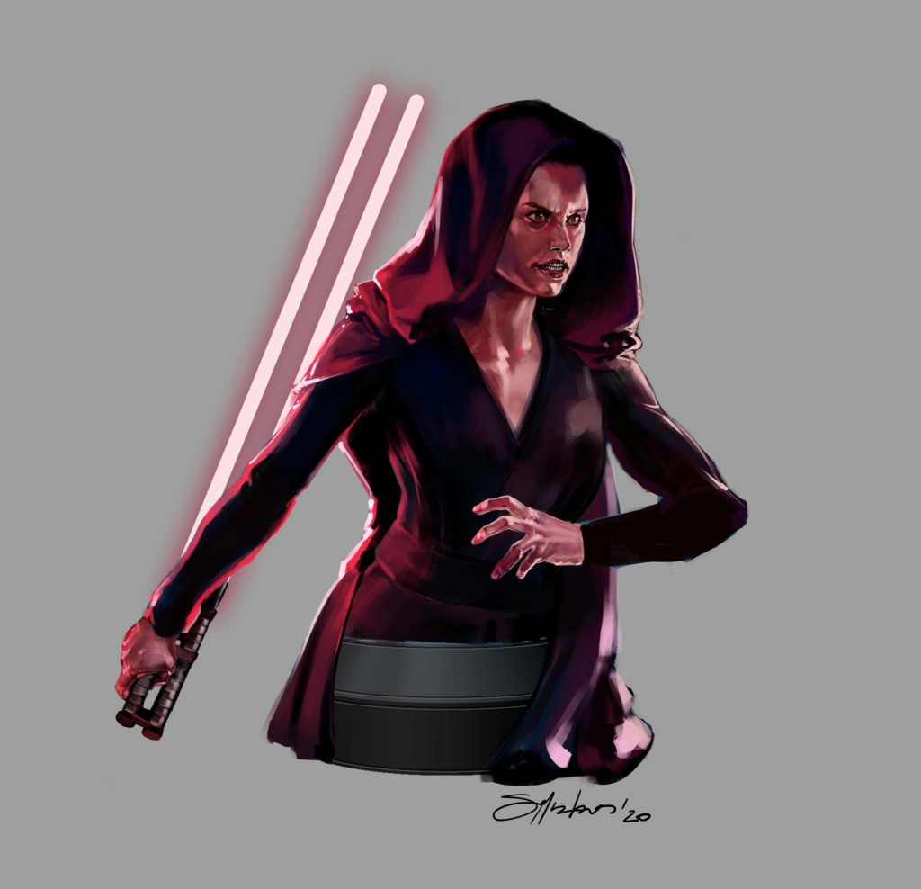 Dark Rey Bust with her double saber - Gentle Giant Concep20