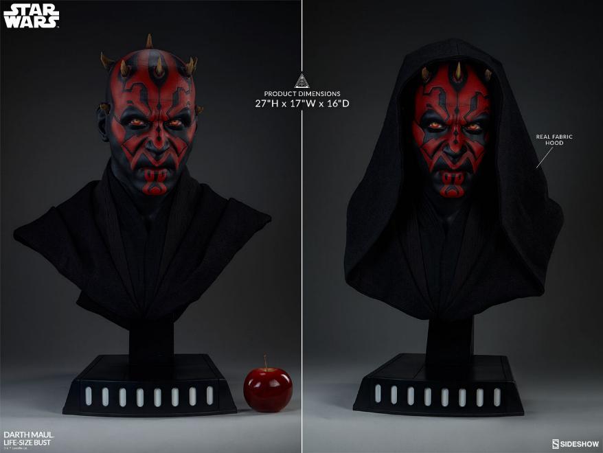 Sideshow Collectibles - Star Wars Darth Maul Life-Size Bust Dark_m13