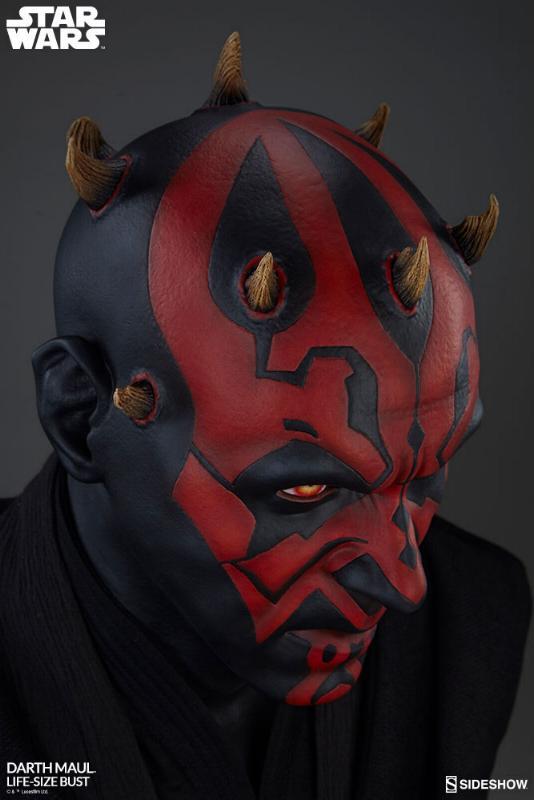 Sideshow Collectibles - Star Wars Darth Maul Life-Size Bust Dark_m23