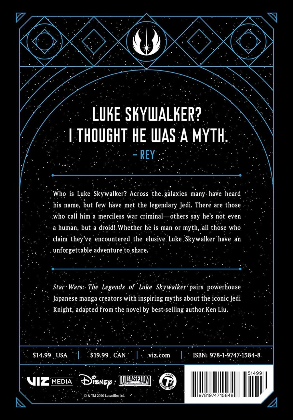 Star Wars: The Legends of Luke Skywalker: The Manga  Dback_10