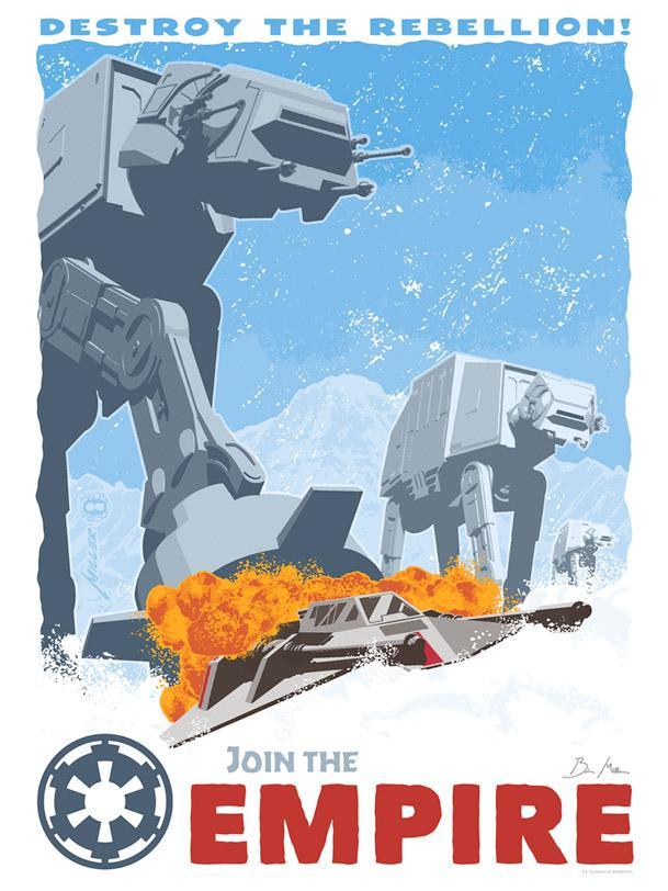 Destroy The Rebellion - Artwork Star Wars - Dark Ink Destro10