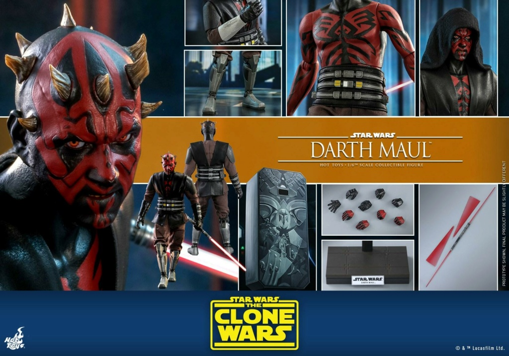 Darth Maul 1/6th scale Figure - The Clone Wars - Hot Toys Dm_tcw31
