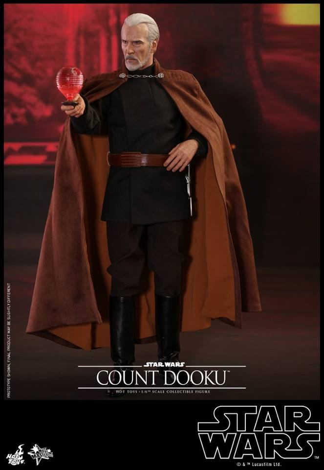 Hot Toys - SW EP 2 - 1/6th scale Count Dooku Collectible Fig Dooku_11
