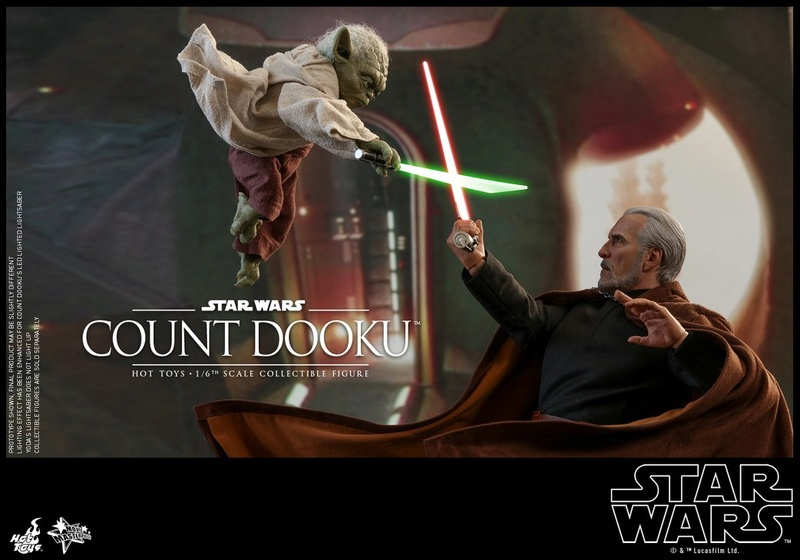 Hot Toys - SW EP 2 - 1/6th scale Count Dooku Collectible Fig Dooku_12