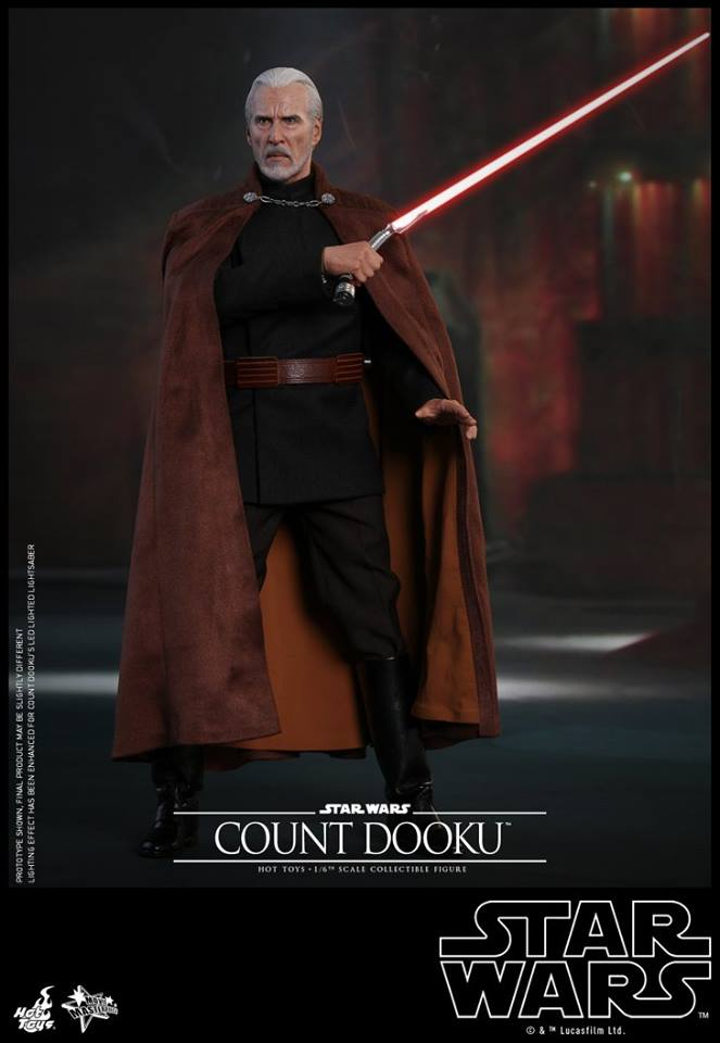 Hot Toys - SW EP 2 - 1/6th scale Count Dooku Collectible Fig Dooku_13