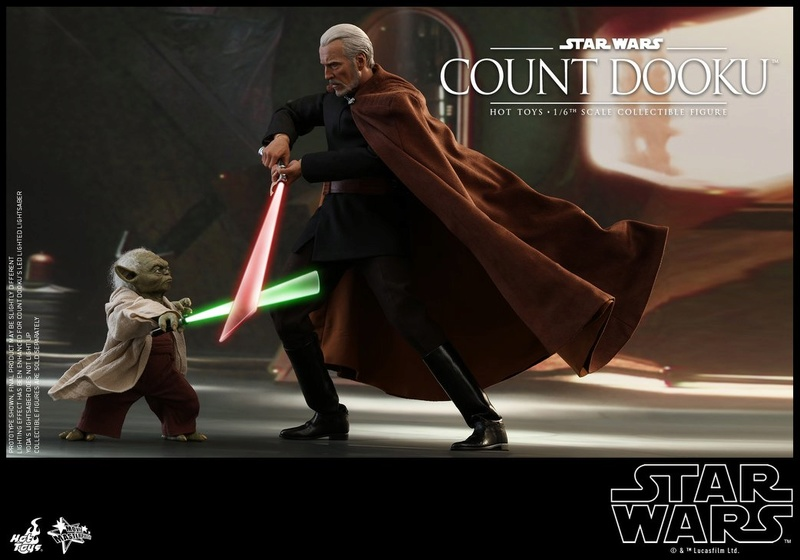 Hot Toys - SW EP 2 - 1/6th scale Count Dooku Collectible Fig Dooku_14