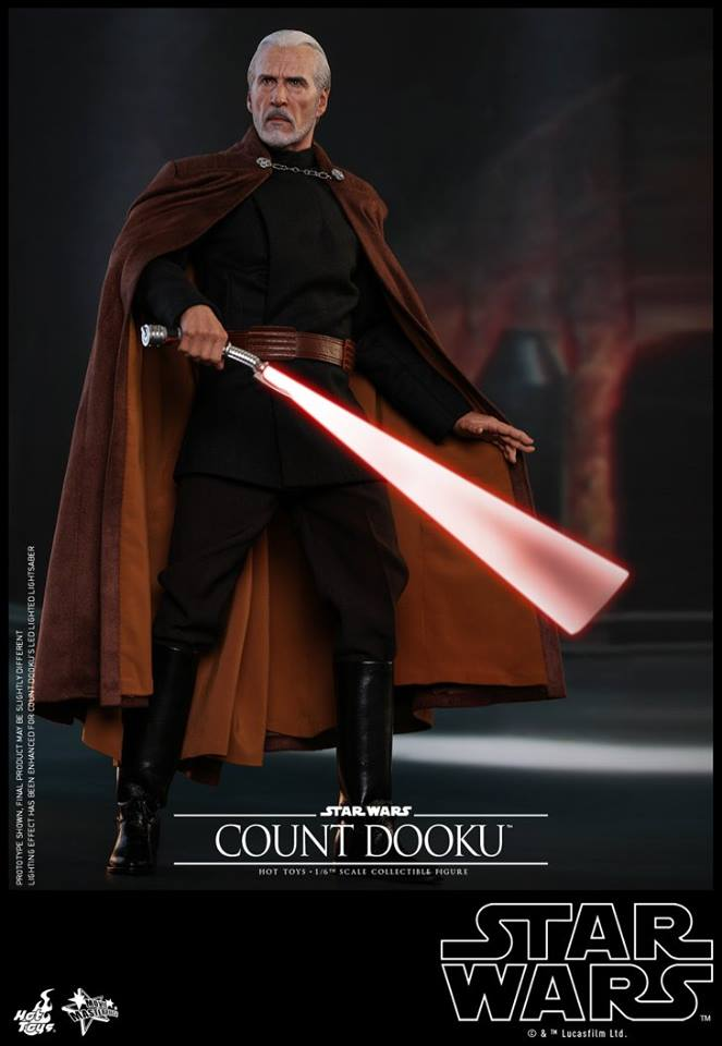 Hot Toys - SW EP 2 - 1/6th scale Count Dooku Collectible Fig Dooku_15