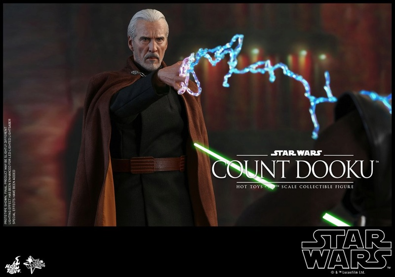 Hot Toys - SW EP 2 - 1/6th scale Count Dooku Collectible Fig Dooku_16