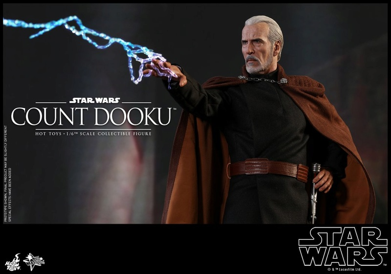 Hot Toys - SW EP 2 - 1/6th scale Count Dooku Collectible Fig Dooku_17