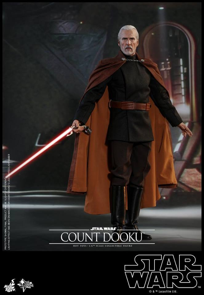 Hot Toys - SW EP 2 - 1/6th scale Count Dooku Collectible Fig Dooku_20