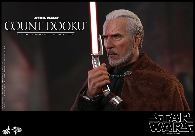 Hot Toys - SW EP 2 - 1/6th scale Count Dooku Collectible Fig Dooku_21