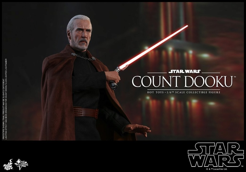 Hot Toys - SW EP 2 - 1/6th scale Count Dooku Collectible Fig Dooku_23