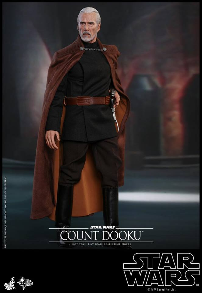 Hot Toys - SW EP 2 - 1/6th scale Count Dooku Collectible Fig Dooku_24