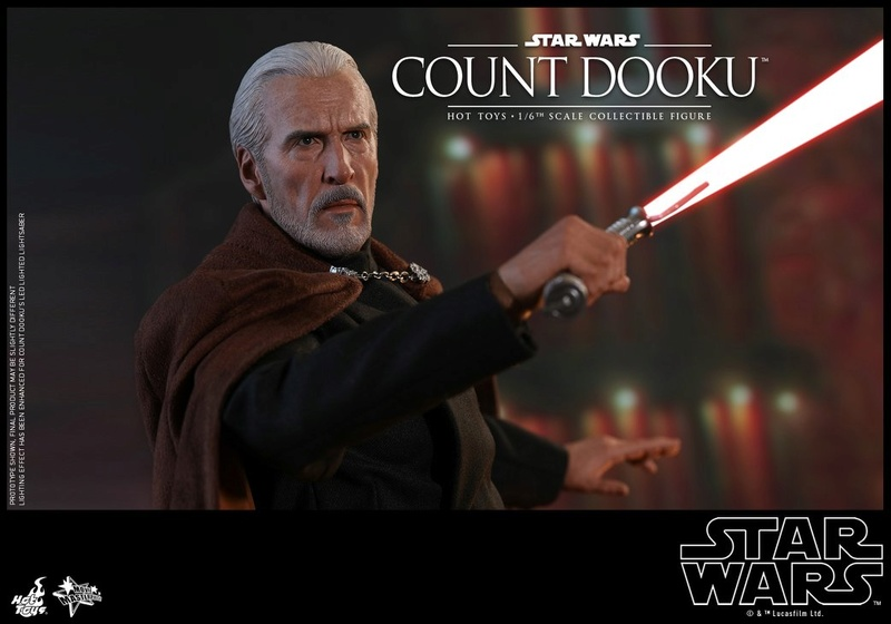 Hot Toys - SW EP 2 - 1/6th scale Count Dooku Collectible Fig Dooku_25