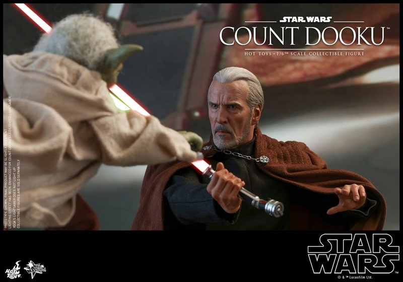 Hot Toys - SW EP 2 - 1/6th scale Count Dooku Collectible Fig Dooku_26