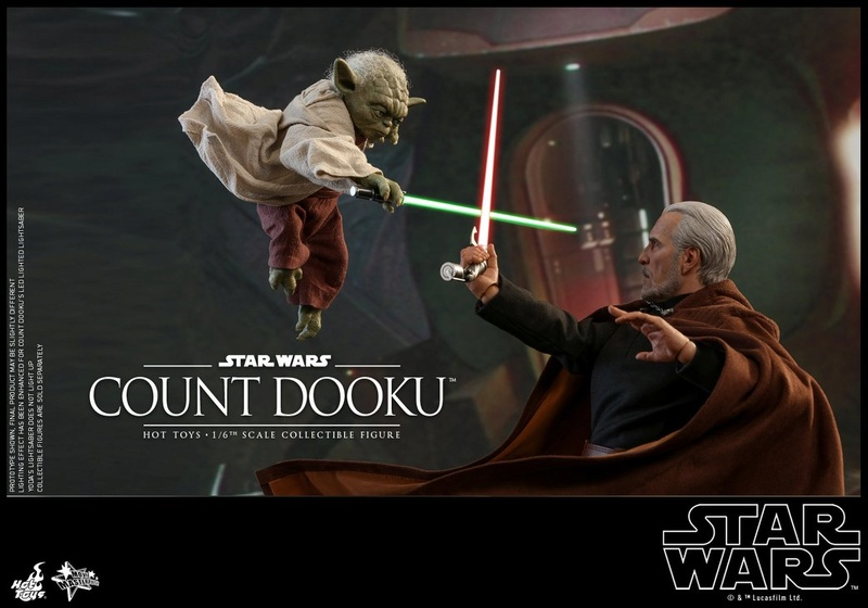 Hot Toys - SW EP 2 - 1/6th scale Count Dooku Collectible Fig Dooku_27
