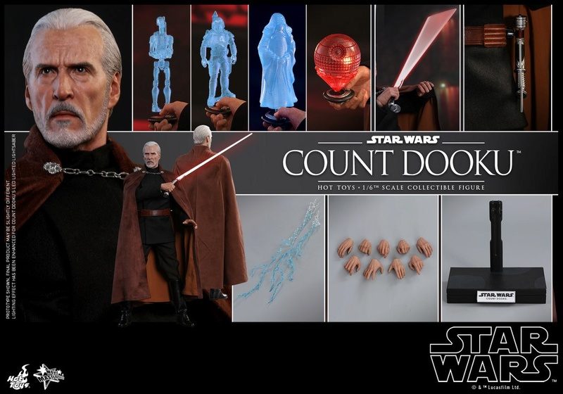 Hot Toys - SW EP 2 - 1/6th scale Count Dooku Collectible Fig Dooku_29