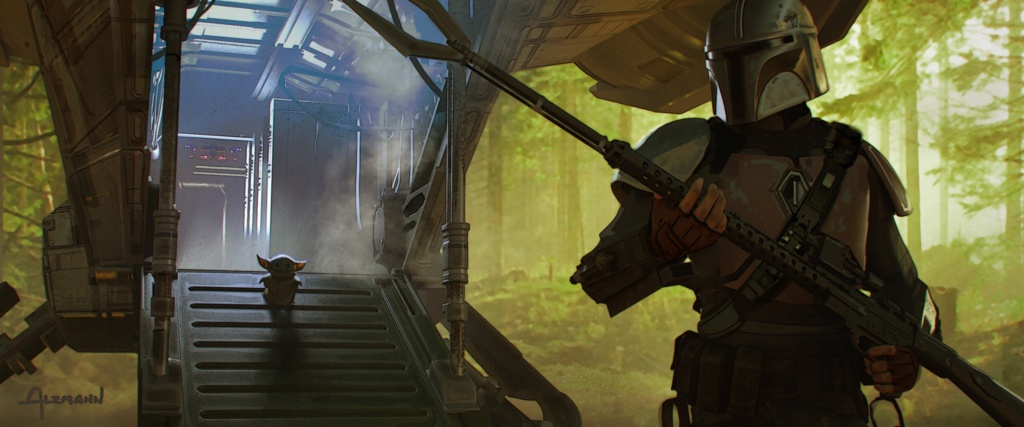 Star Wars The Mandalorian - Les Concepts Art de la saison 1 E04-0210
