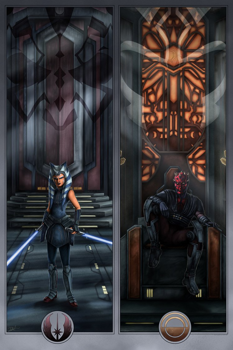 Face Off On Mandalore - Artwork Star Wars - ACME Archives  Face_o10