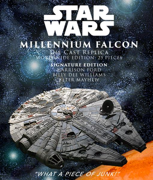 Efx Millenium Falcon Die Cast Replica Signature Edition Falcon10