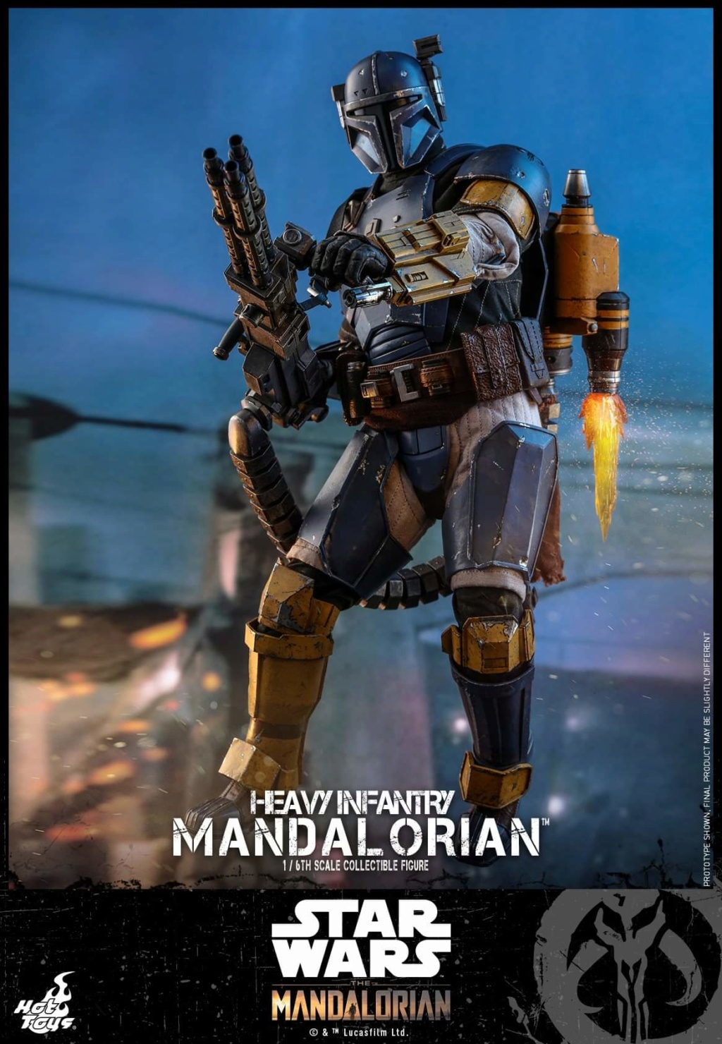 Heavy Infantry Mandalorian Collectible Figure 1/6th Hot Toy. Fb_img56