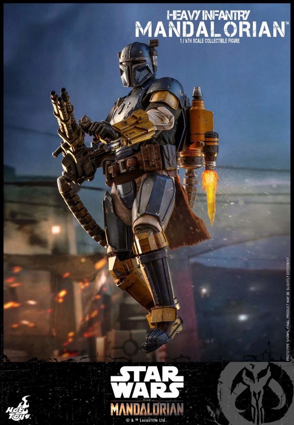Heavy Infantry Mandalorian Collectible Figure 1/6th Hot Toy. Fb_img61