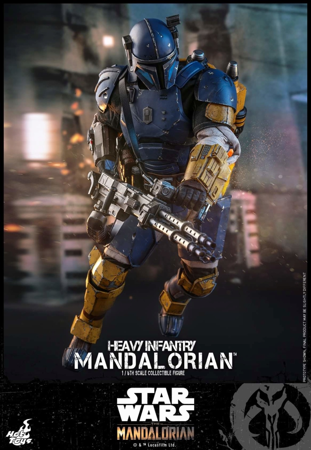 Heavy Infantry Mandalorian Collectible Figure 1/6th Hot Toy. Fb_img70
