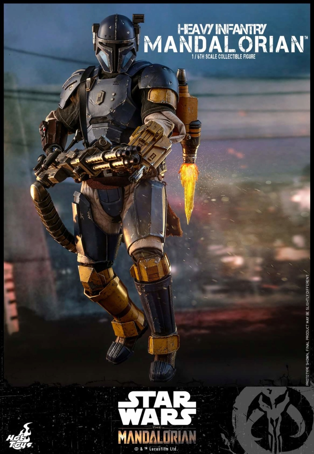 Heavy Infantry Mandalorian Collectible Figure 1/6th Hot Toy. Fb_img72