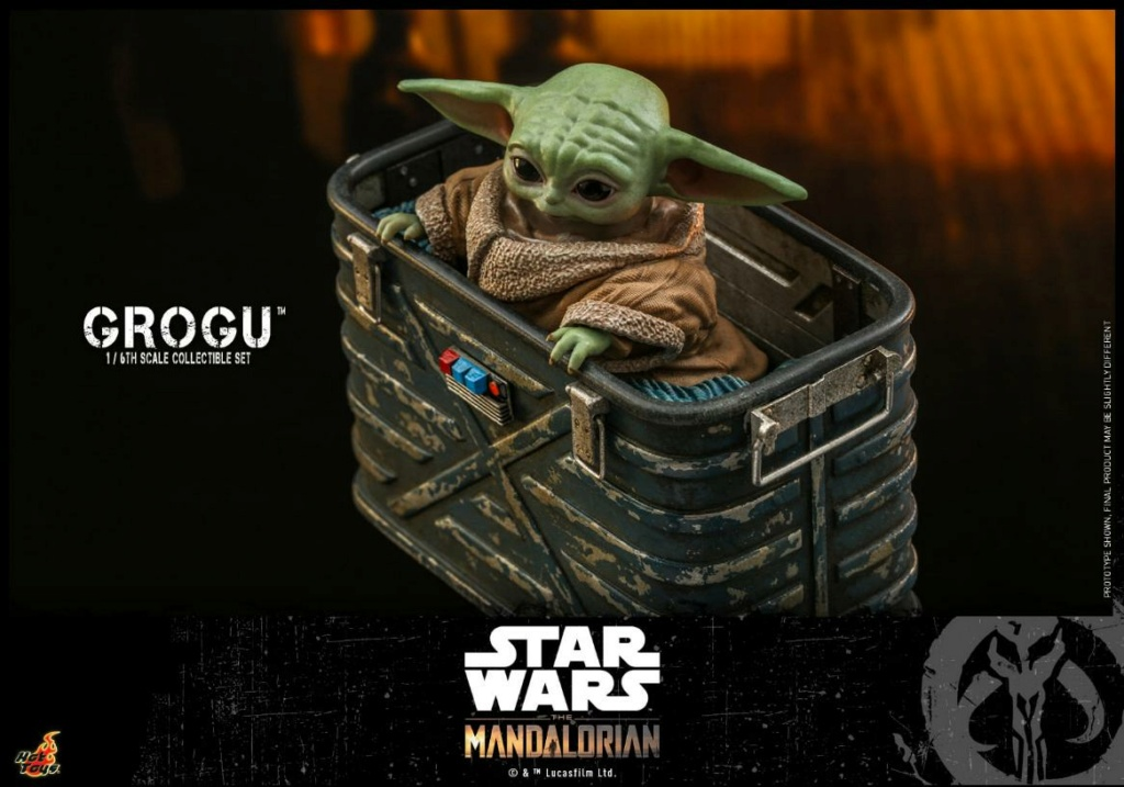 Grogu Collectible Set - Star Wars The Mandalorian - Hot Toys Grogu_19