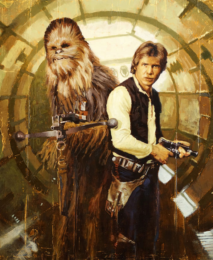 Artwork Star Wars - ACME - Han and Chewie Han_an10